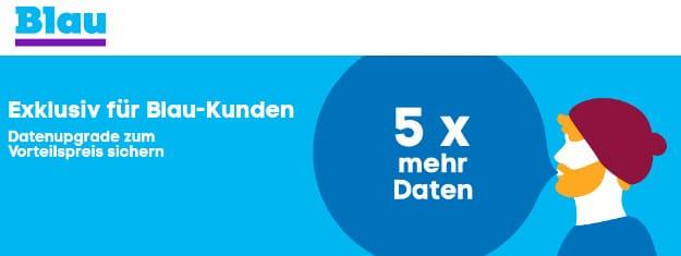 Blau fünffaches Datenvolumen