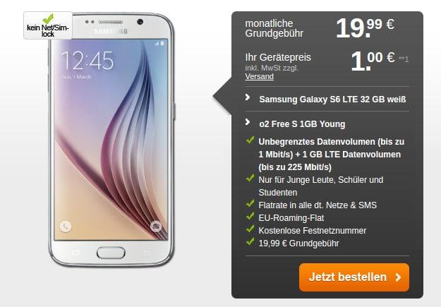 Samsung Galaxy S6 + o2 Free S Handyflash