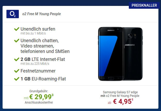 Samsung Galaxy S7 Edge + o2 Free M Young People