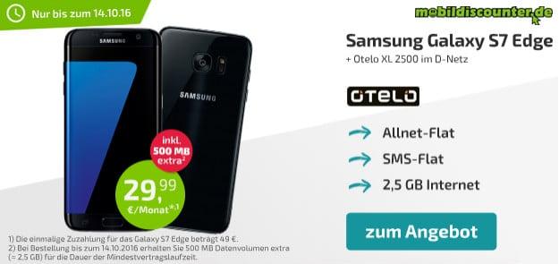 Samsung Galaxy S7 Edge + otelo Allnet-Flat XL mobildiscounter