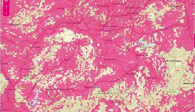 Telekom-3G-Netz auf dem Land