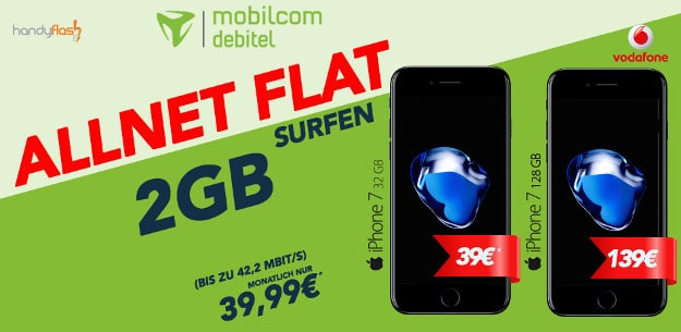 iPhone 7 + Vodafone Comfort Allnet (md) Handyflash