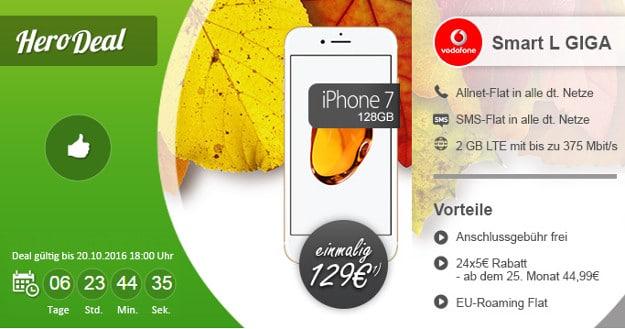 iPhone 7 + Vodafone Smart L modeo
