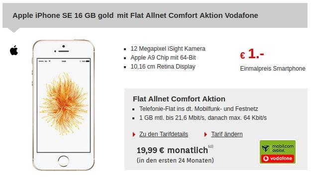 iPhone SE + Vodafone Flat Allnet Comfort (md)