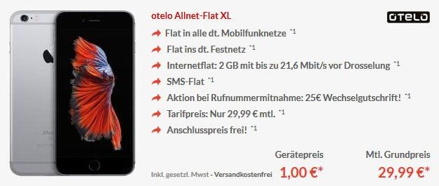 iPhone6s - otelo Allnet Flat XL