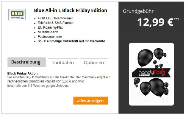Base Blue All-in L mit 36 € Gutschrift
