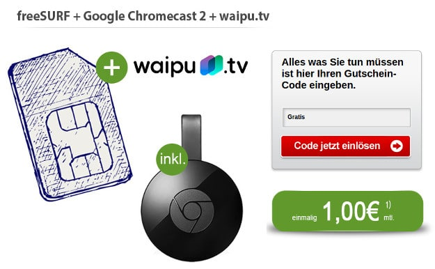 Chromecast 2 abstauben