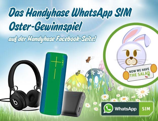 Handyhase WhatsApp SIM Gewinnspiel