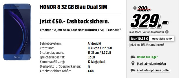 Honor 8 Media Markt