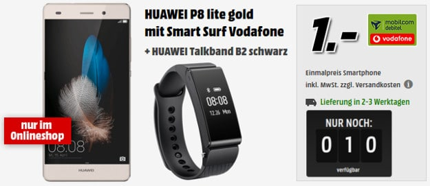 Huawei P8 lite + Vodafone Smart Surf (md)