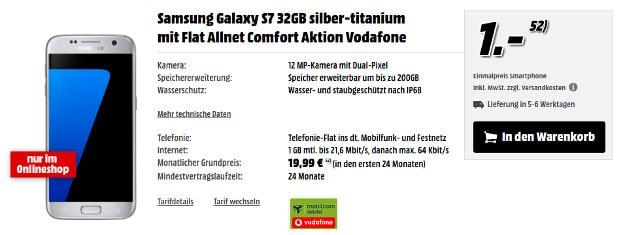 S7 + Flat Allnet Comfort Vodafone