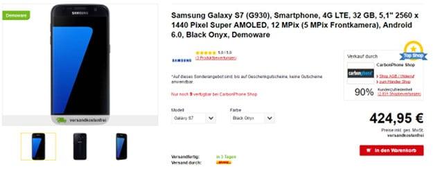 Samsung Galaxy S7 Demoware