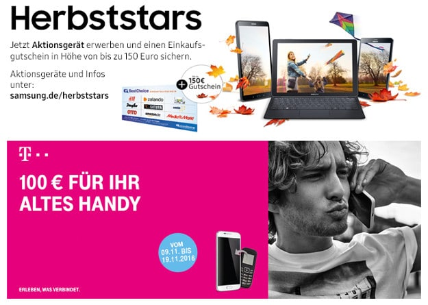 Samsung Galaxy S7 Edge + Herbststars + Alt-gegen-Neu