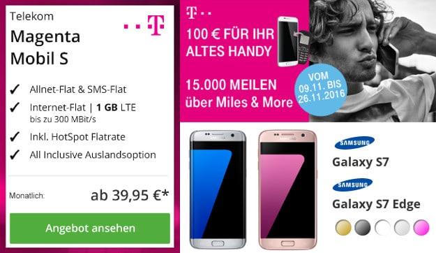Samsung Galaxy S7 (Edge) + Telekom Magenta Mobil S
