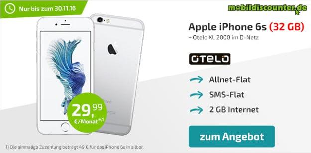 iPhone 6s + otelo Allnet-Flat XL mobildiscounter