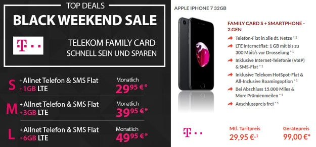 iPhone 7 + Telekom Family Card S