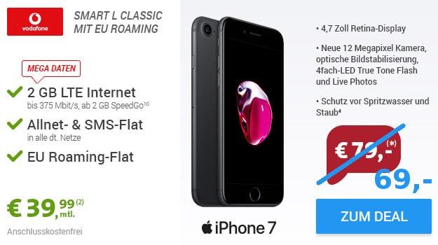 iPhone 7 + Vodafone Smart L Sparhandy