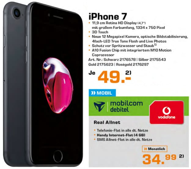 iPhone 7 + Vodafone real Allnet (md)