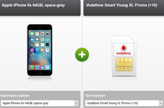 iphone 6s 64gb vodafone smart young xl