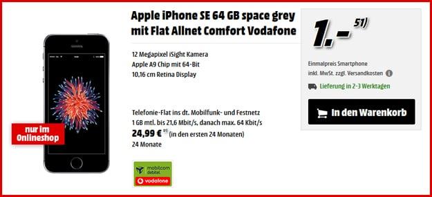 iphone se flat allnet comfort vodafone