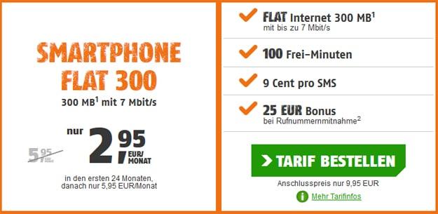 smartphone flat 300 2,95