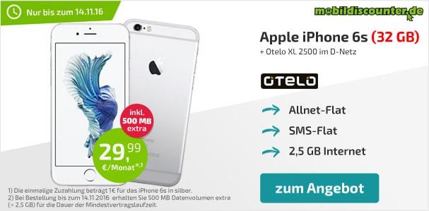 iPhone 6s + otelo Allnet-Flat XL