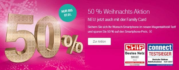 50 Prozent Aktion Telekom