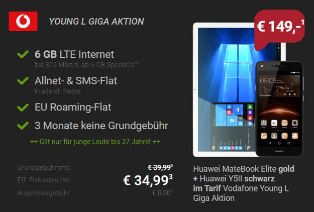 Huawei Bundle + Vodafone Young L