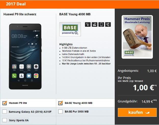 Huawei P9 Lite + BASE Pur oder BASE Young