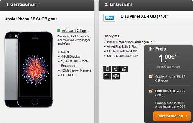 Iphone SE Blau Allnet XL 4GB
