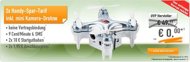 Mini-Drohne abstauben Handybude