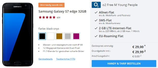 Samsung Galaxy S7 Edge + o2 Free M