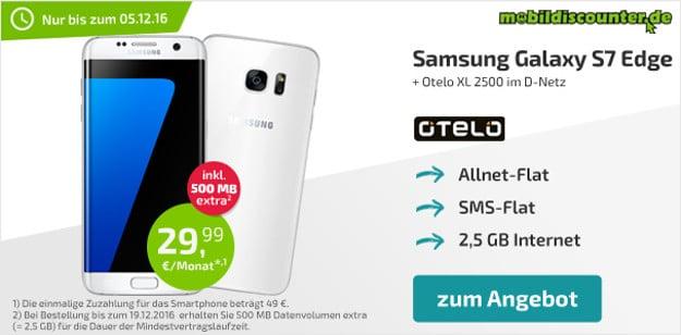 Samsung Galaxy S7 Edge + otelo Allnet-Flat XL md