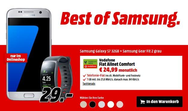 Samsung Galaxy S7 + Gear Fit 2 + Vf Flat Allnet Comfort (md)