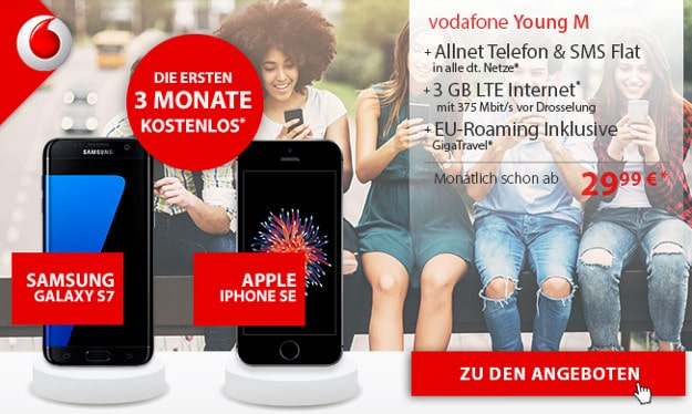 Vodafone Young M mit S7 oder iPhone SE