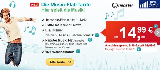 hellomobil lte music flat napster