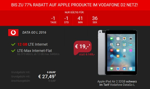 iPad Air + DataGo L Sparhandy Neu