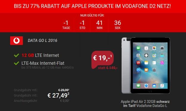 iPad Air + DataGo L Sparhandy Neu