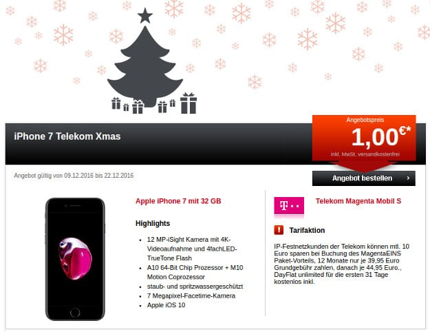 iPhone 7 + Telekom Magenta Mobil S 24mobile