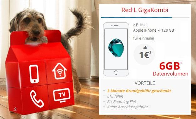 iPhone 7 + Vodafone Red L Gigakombi