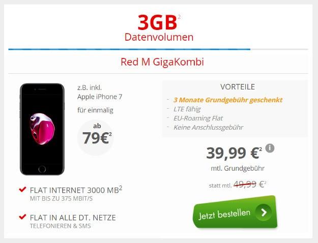 iPhone 7 + Vodafone Red M GigaKombi