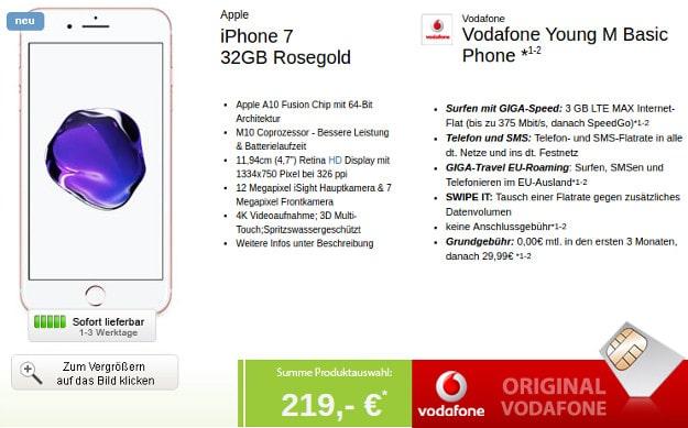 iPhone 7 + Vodafone Smart Young M LogiTel