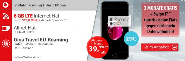 iPhone 7 + Vodafone Young L LogiTel