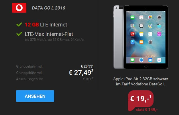 ipad air 2 vodafone data go l