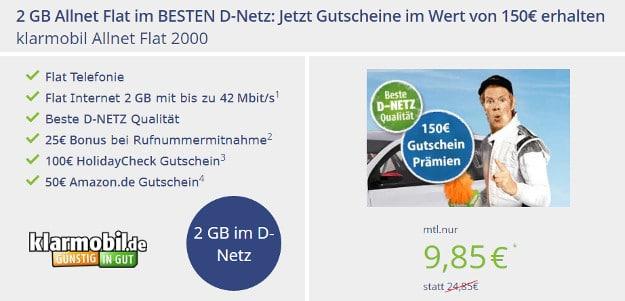 klarmobil Allnet-Flat Telekom mit Gutscheinen.jpg