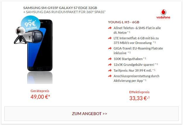 Galaxy S7 Edge + Vodafone Young L