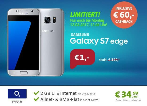 Galaxy S7 Edge + o2 Free M Cashback