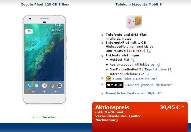 Google Pixel + Telekom Magenta Mobil S mobileforyou