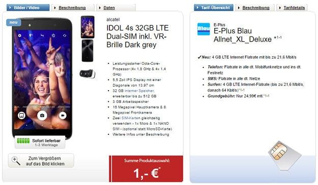Idol 4s + Blau Allnet XL