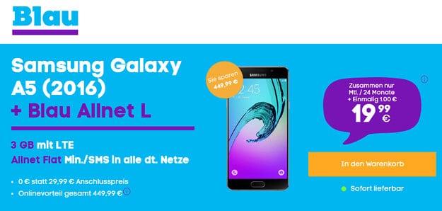Samsung Galaxy A5 + Blau Allnet L